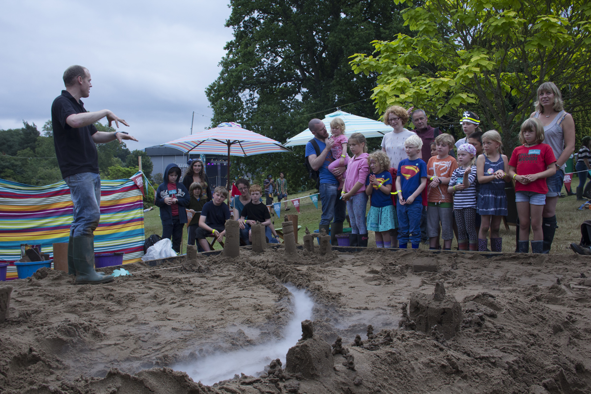 Sand Sculpture workshops at the Green Man Festival