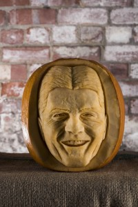 Simon Cowell, pumpkin carving for Halloween, image by REX
