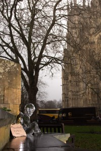 The results of the days of ice sculpting. No. 2 York to raise awareness of the homeless this winter
