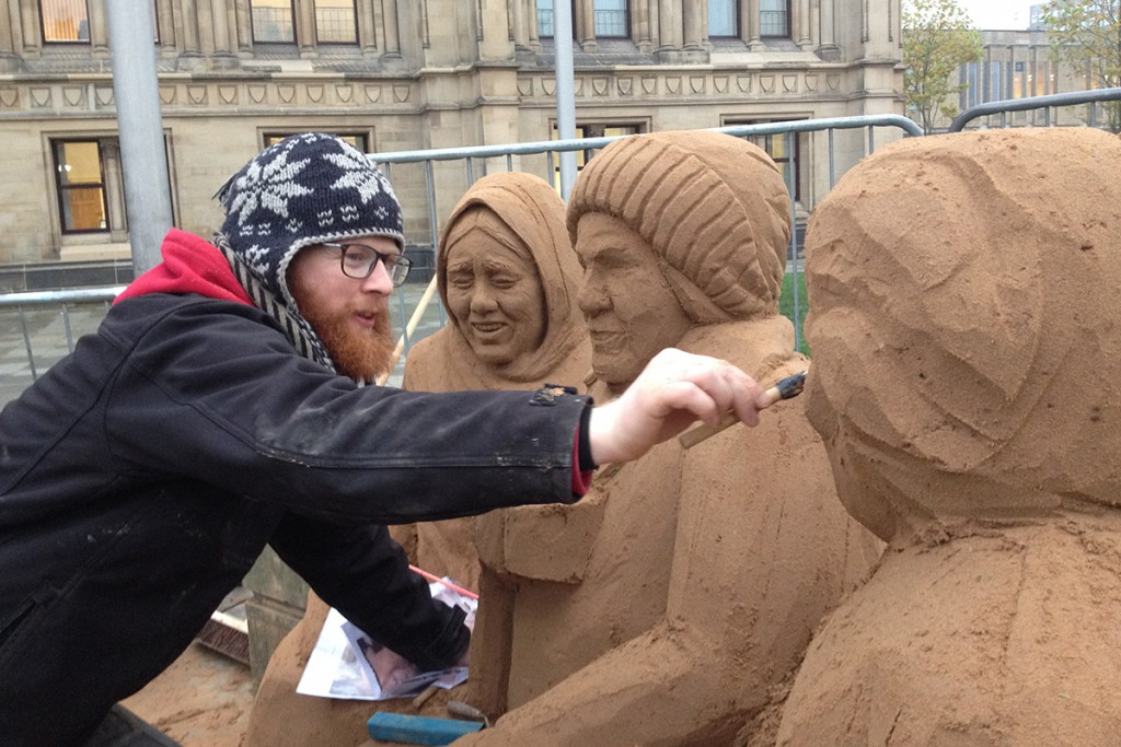 Yorkshire sand sculptor Jamie Wardley