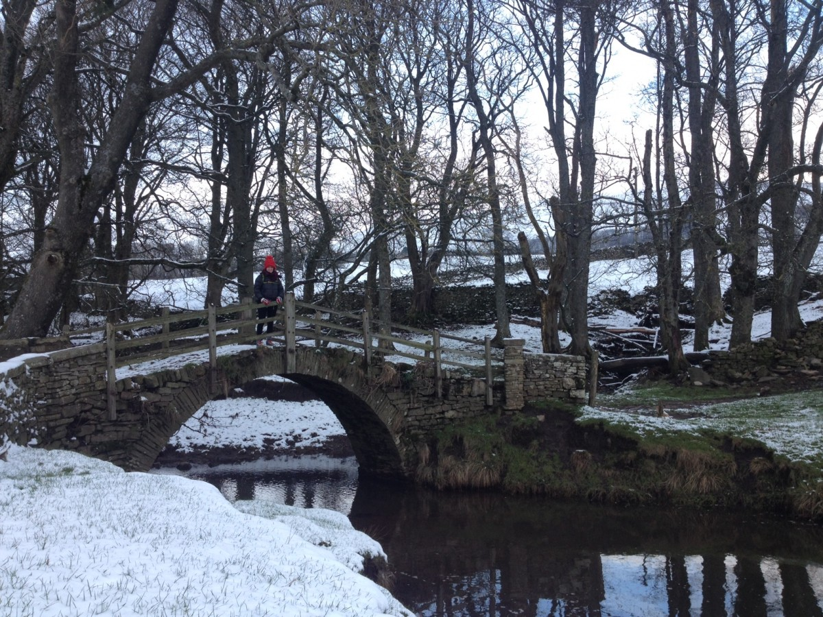 Claire Jamieson walking in the Yorkshire Dales