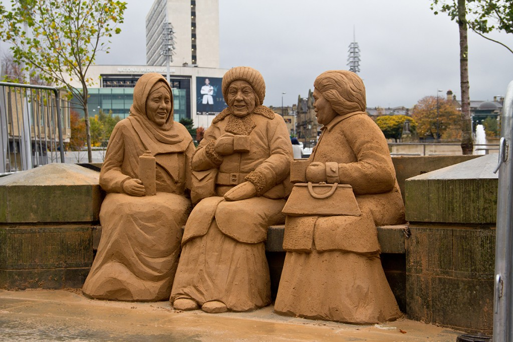 A sand sculpture to show cultural diversity in Bradford