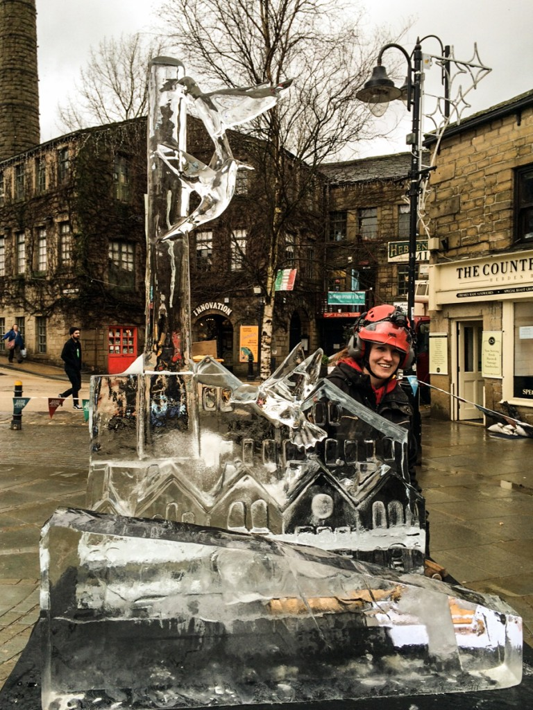 Ice sculpture street art event
