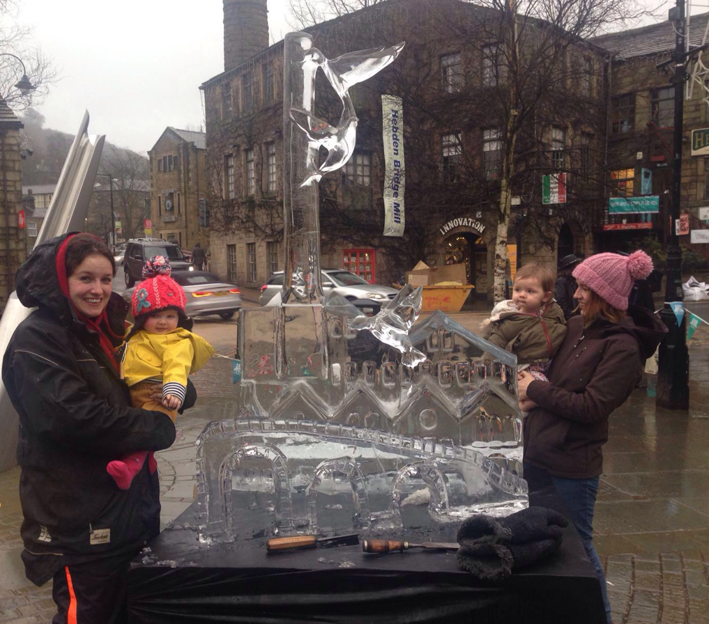 Ice Sculpture Event Hebden Bridge