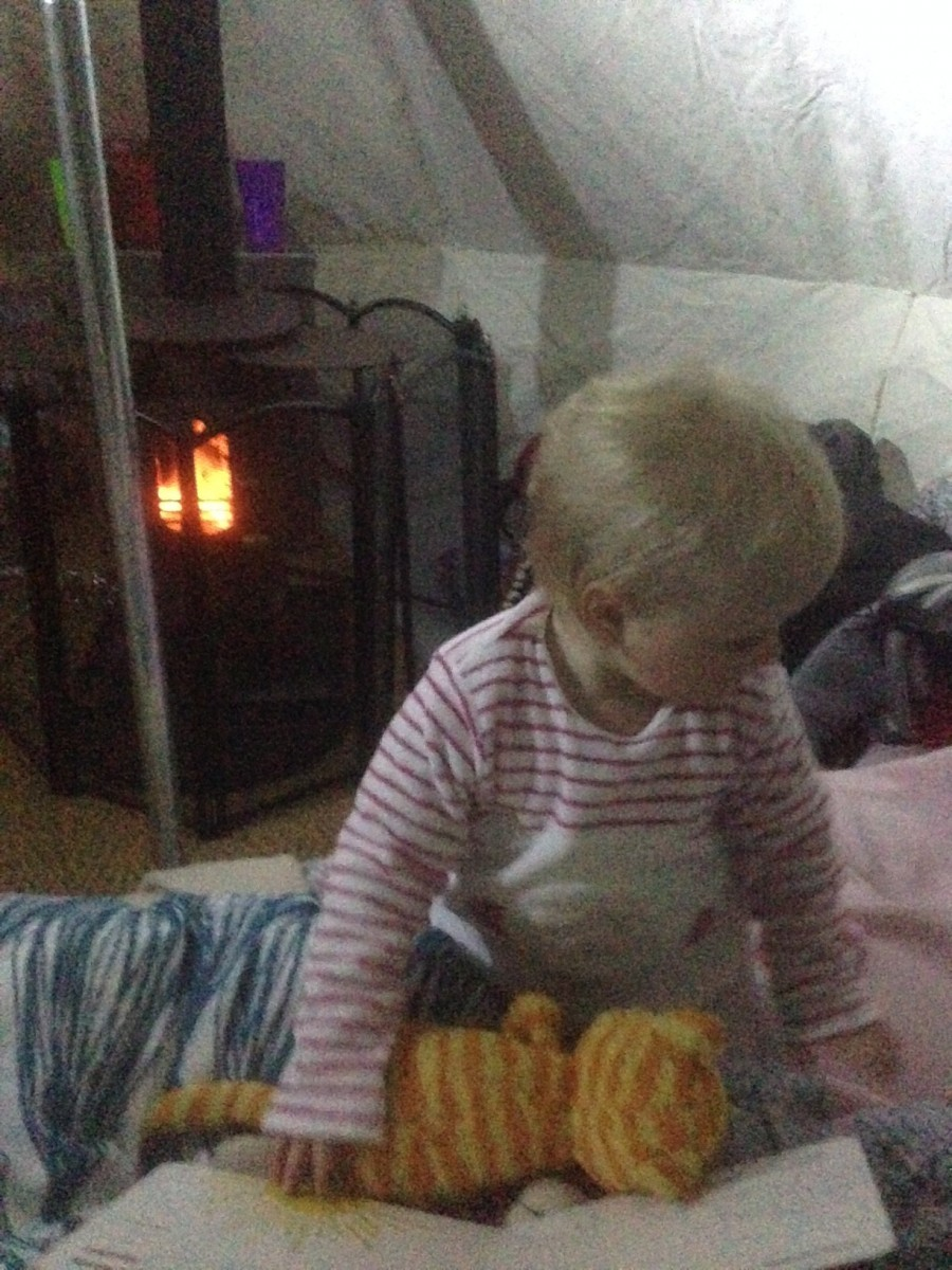 Winter Camping made cosy with our tent
