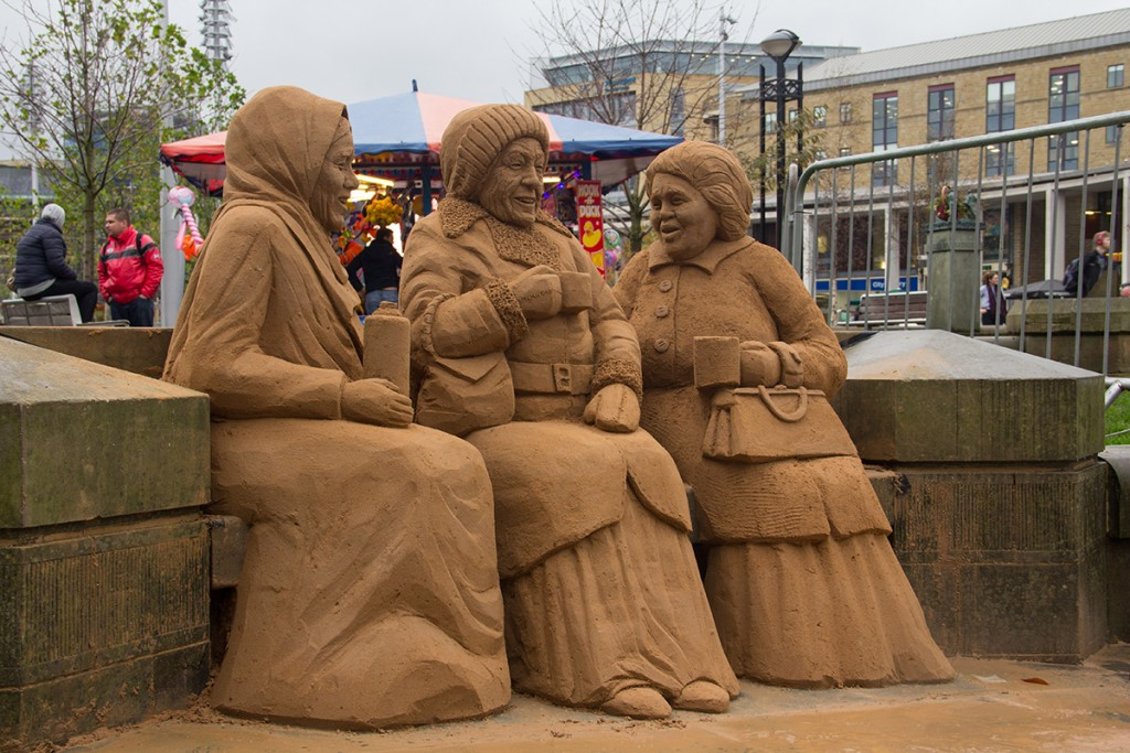 Our sand sculpture created lots of conversation, much like the social interaction in the sand sculpture