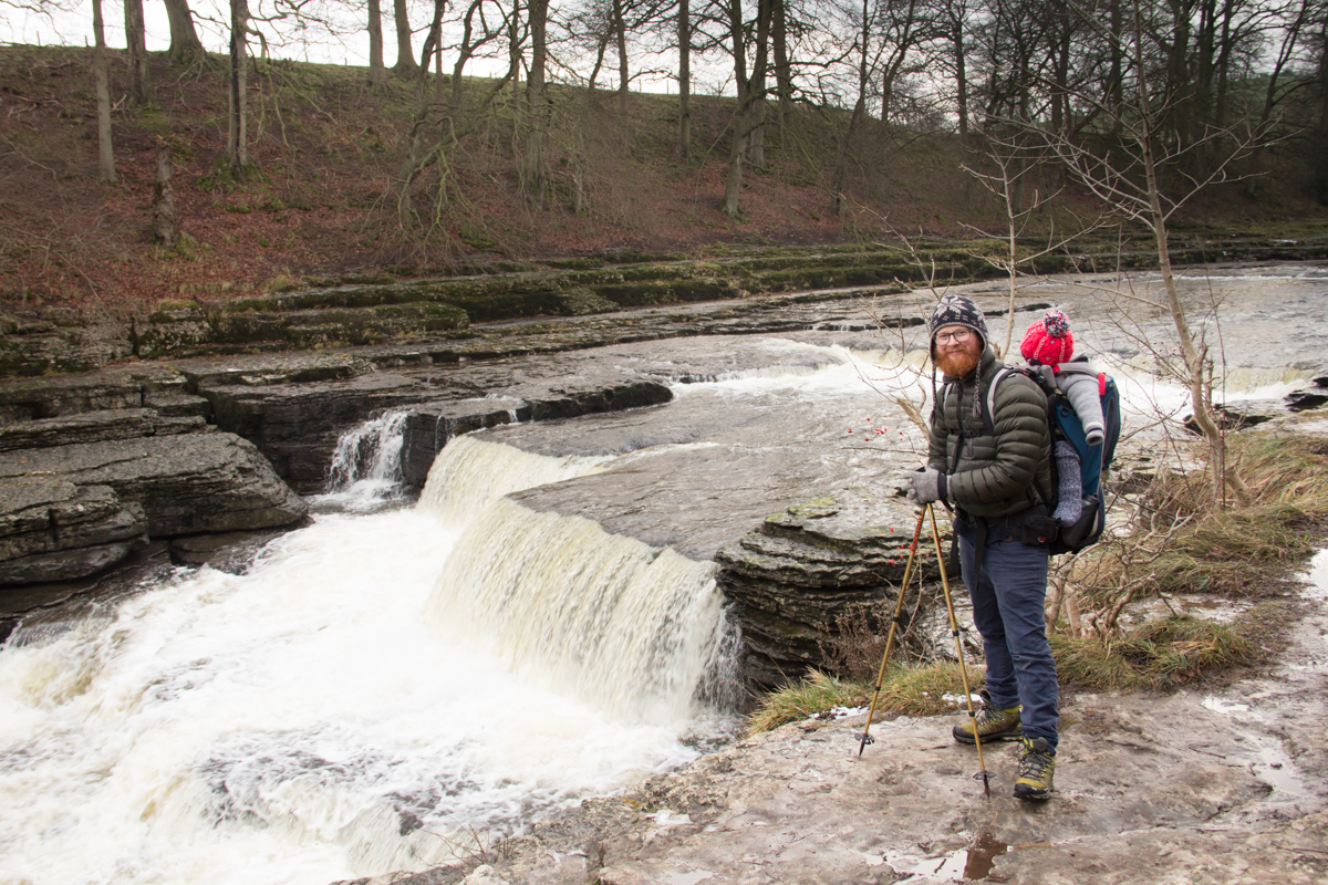 Jamie Wardley checking out another waterfall