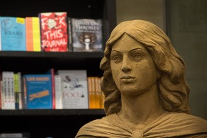 Waterstones bookshop housed the Emily Bronte sand sculpture for over 2 months