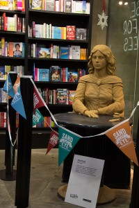 Emily Bronte, indoor sand sculpture