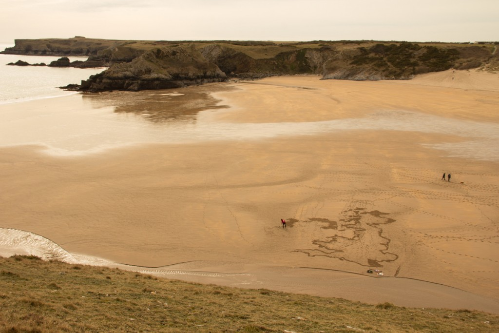 A map in the sand for BBC Springwatch