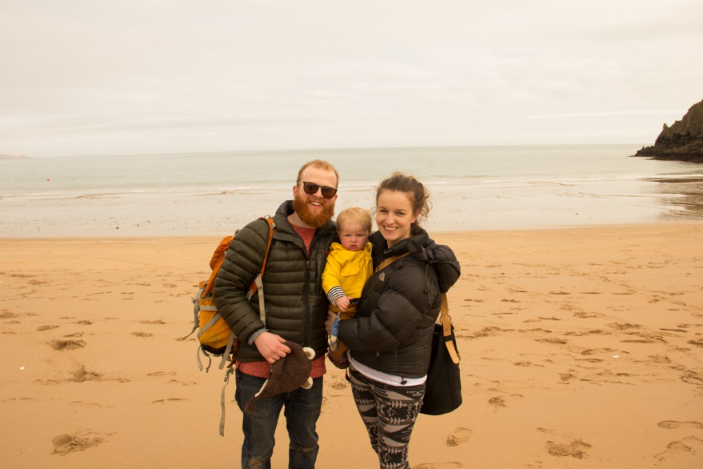 Sand Art family on a trip to Wales