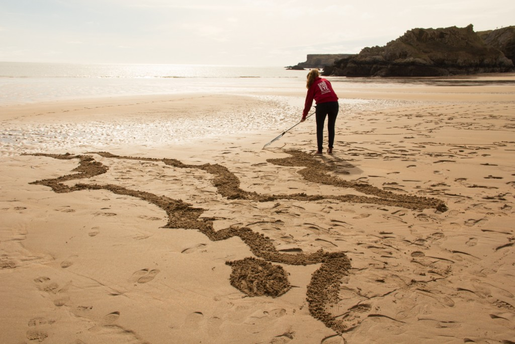 Sand In Your Eye, sand drawing in Wales