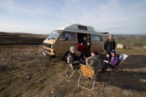 Back to the VW Camper for tea and cake