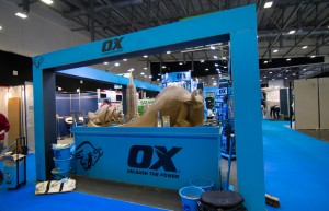 Trade Show Event sand sculpture for Ox Tools