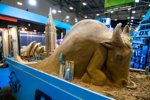 We make sand sculptures for all kinds of events in the UK
