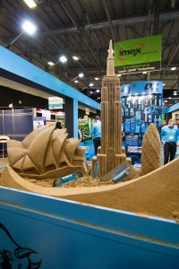 Worldwide Landmarks sand sculpture