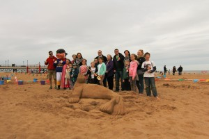 Skegness sand sculpture competition winners!