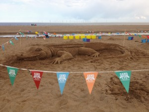 Beach sand sculpture events