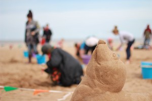 beach sand sculpture family events