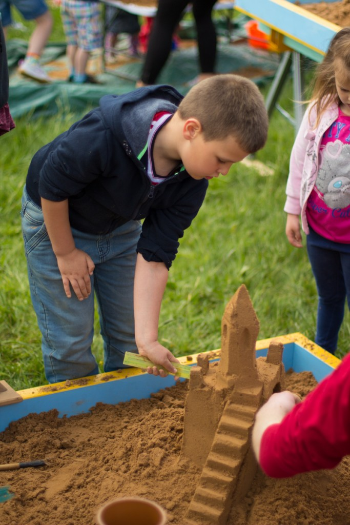 Portable childrens sand sculpture workshops