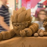 Dennis the Menace sand sculpture by Jamie Wardley