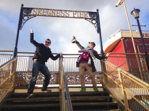 Sand Sculptors Tom and Jamie arrive in Skegness