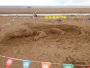 beach sand sculpture