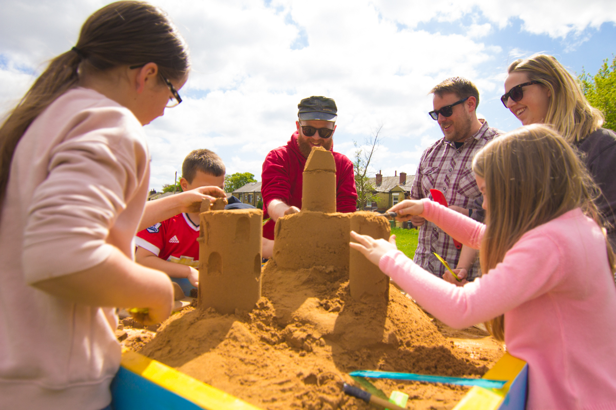 Sand sculpture workshops, creative events