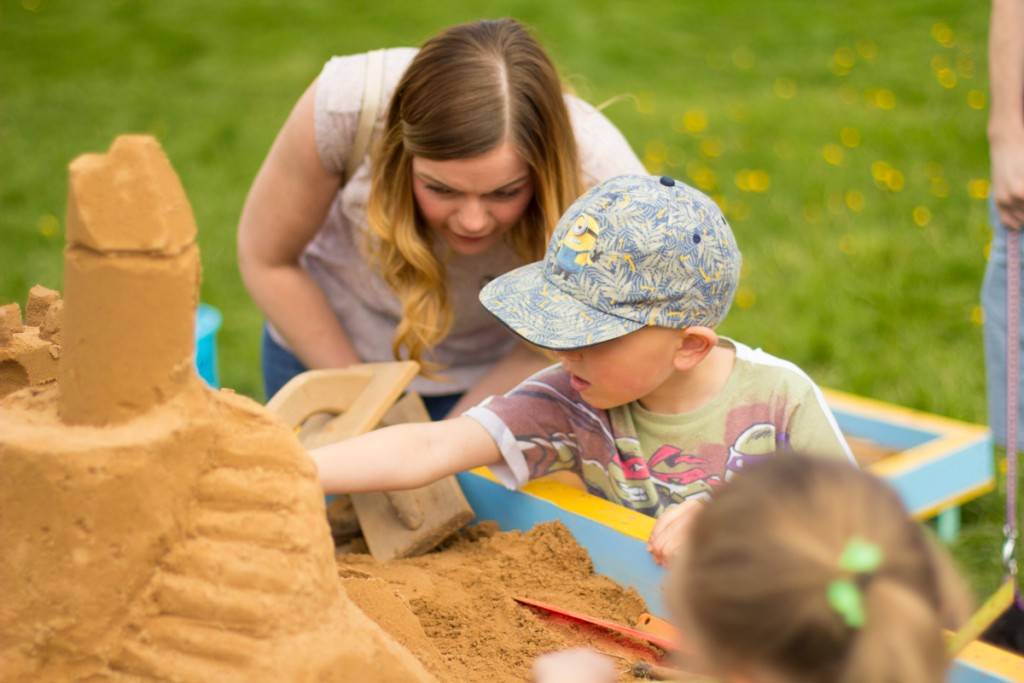 Sand sculpture workshops, creative events, Bolton