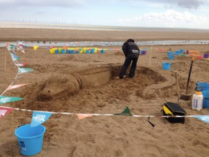 UK sand sculptor Jamie Wardley
