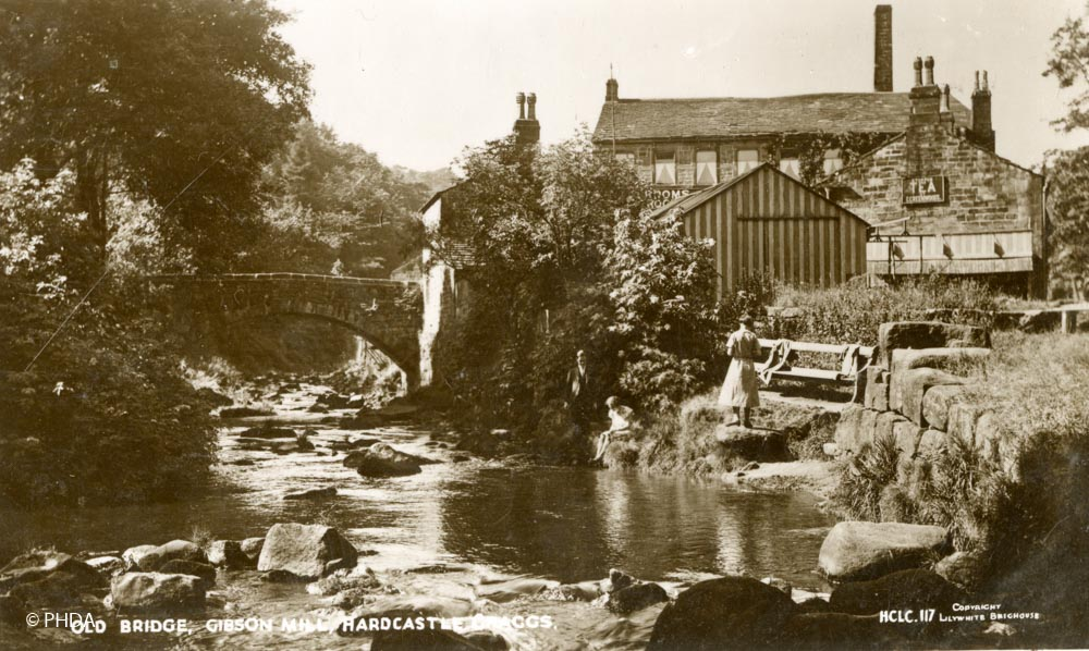 Gibson Mill 100 years ago