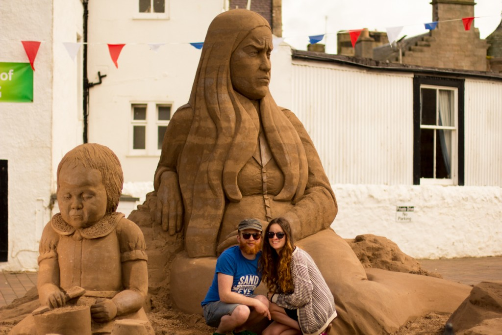UK sand sculptors Claire Jamieson and Jamie Wardley