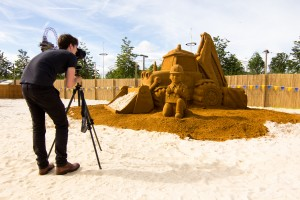 PR Event Bob The Builder Sand Sculpture, East Beach, London
