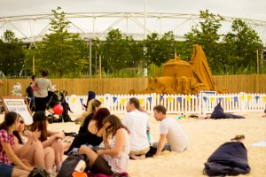 Public events on urban city beaches