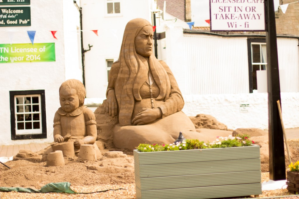 Those that were left behind. Sand sculpture to commemorate the Battle of the Somme