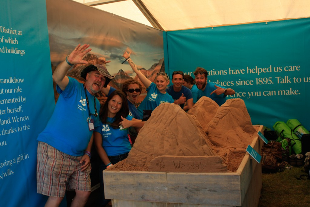 Sand in Your Eye and the National Trust team have some sand sculpture fun