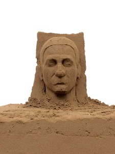Blocking out the sand sculpture