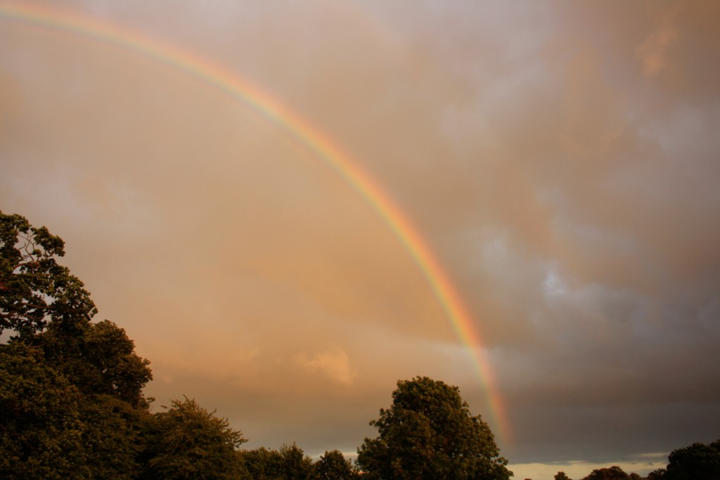 Rainbow at Blenheim Palace, Countryfile Live