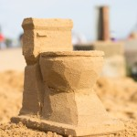 sand toilet sculpture