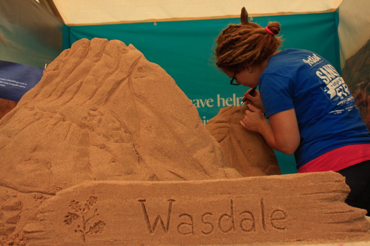 Sand In Your Eye create sand art at lots of festivals and events