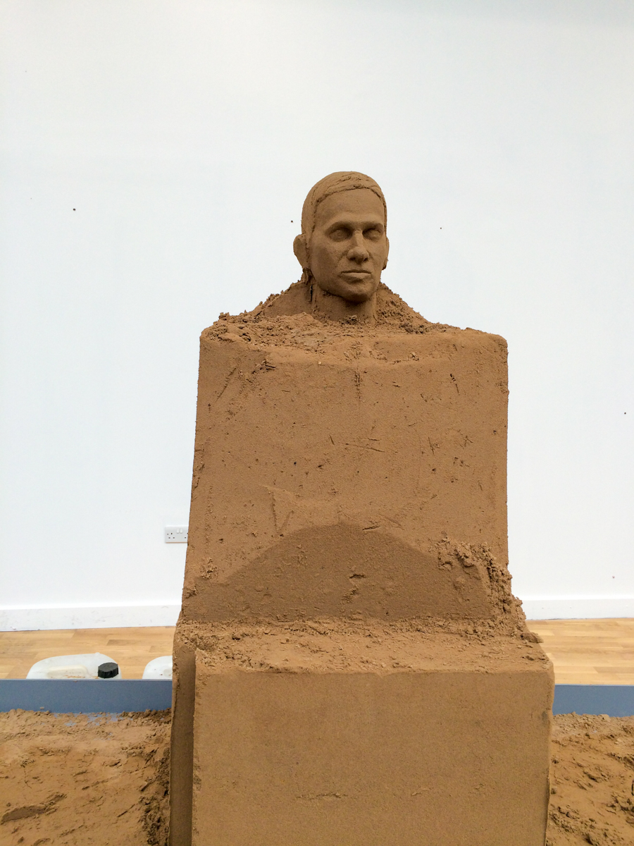 sand sculpture in progress