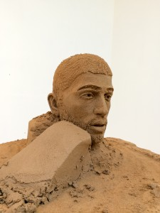 Zayn Malik sand sculpture in progress