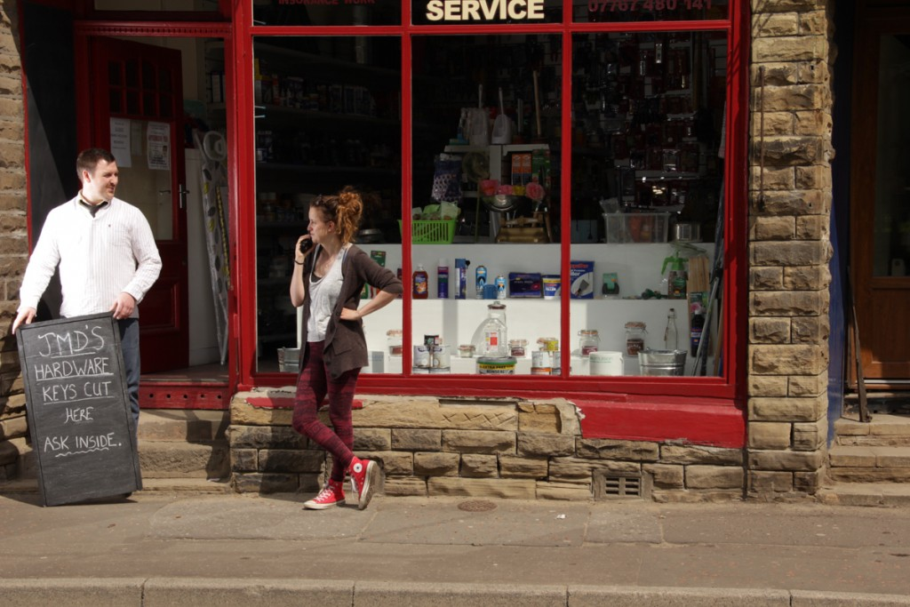 Claire Jamieson at the Mytholmroyd shoot