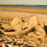 Beach sand sculpture, Sand In Your Eye