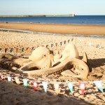 Beach sand sculpture UK