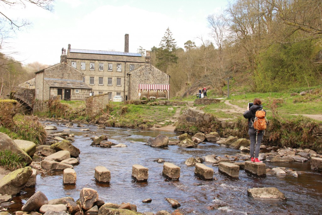 Claire Jamieson at Gibson Mill on the reccie