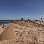 Fun beach sand sculptures, photo ops