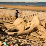 Octopus Sand Sculpture beach art