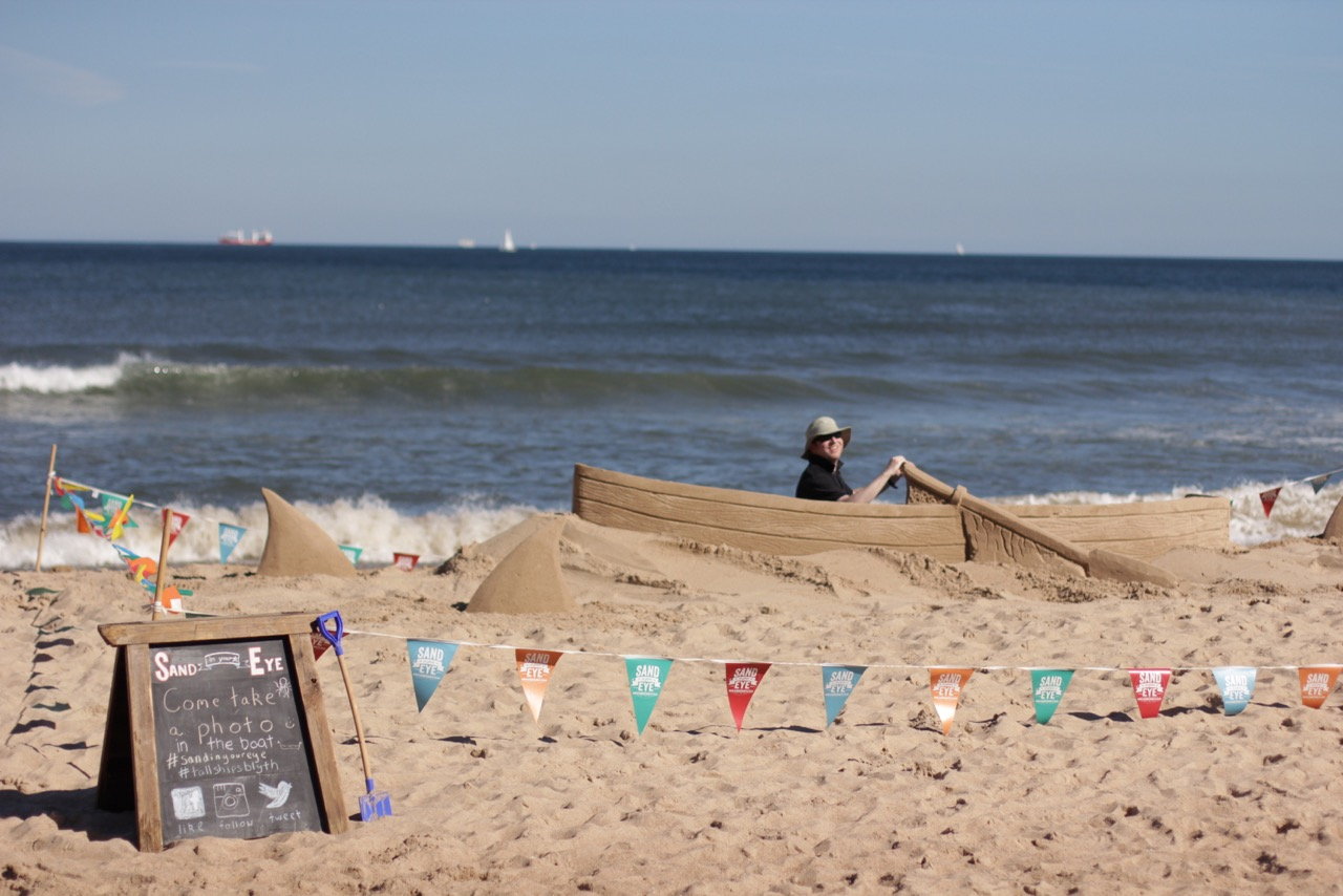 Pop up creative events, sand sculptures