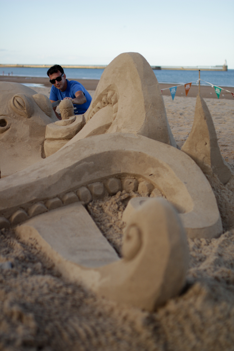 Sand sculpture beach events UK